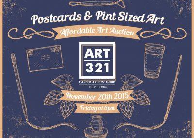 Art321 Postcards Pint Sized Art 2015