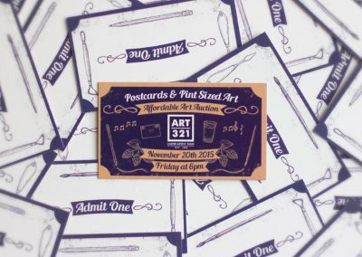 Art321 Postcards Pint Sized Art Tickets 2015