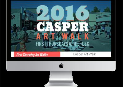 Casper Art Walk Website Design
