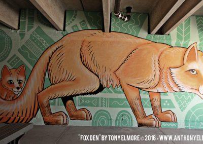 Fox Den Mural - Tony Elmore