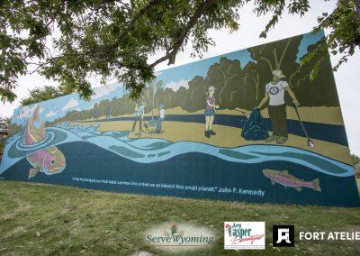 Rainbow Trout Mural Casper Wyoming