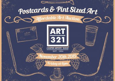 Art321 Postcards Pint Sized Art 2015