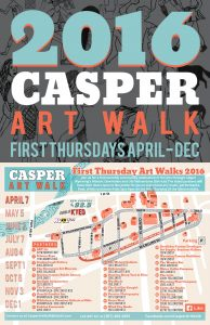 Casper Art Walk Logo 2016 Poster