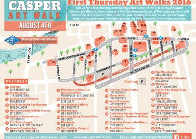 Casper Art Walk Map Design 2016