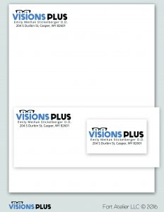 Visions Plus Logo and Concept Stationary