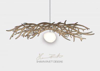 Shawn Rivett Designs Elk Chandelier