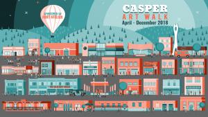 Casper Art Walk City Illustration 2018