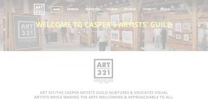 ART 321 Website Homepage with White Opacity