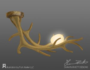 Shawn Rivett Designs Antler with Egg in Natural Color