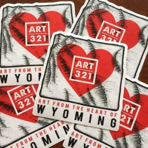 ART 321 Stickers featuring Wyoming topograph