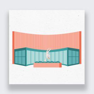 Casper Art Walk Building Illustration