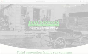 Davidson Mechanical Homepage with White Overlay