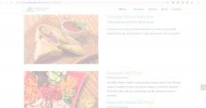 Grab and Go Gourmet Menu Web Image with White Opacity