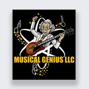 Musical Genius Logo in Black