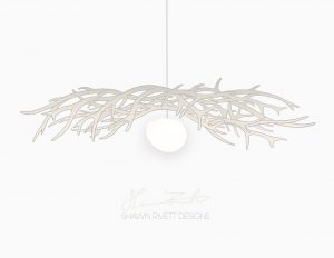 Shawn Rivett Designs Antler with Light Illustration